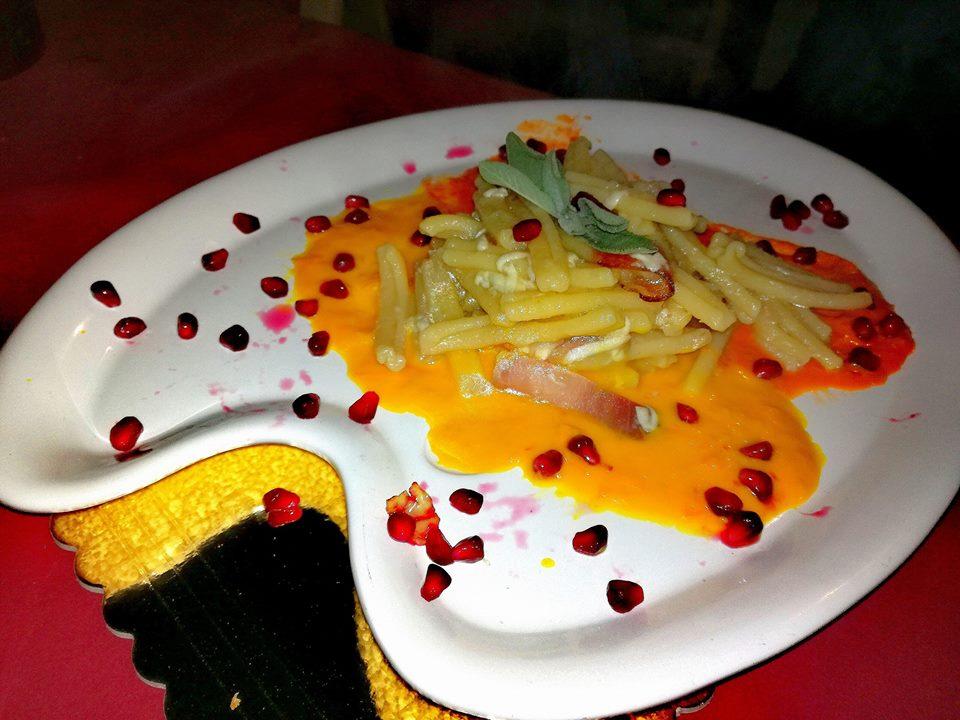 Cooking shoow di Lello a gustannurca con la creazione di un piatto ispirato dal quadro di Cezanne.