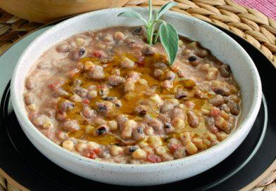 Zuppa funebre: fave e ceci piccante